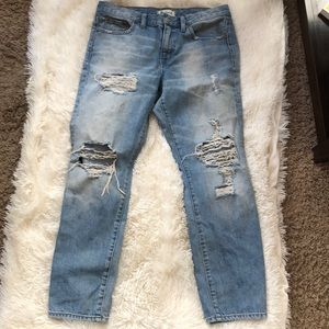 Madewell distressed boy jeans size 28
